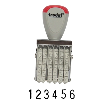 Manual numbering stamp