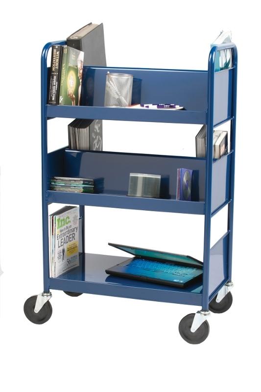 promotion chariot livres en acier 5 tablettes rm. Black Bedroom Furniture Sets. Home Design Ideas