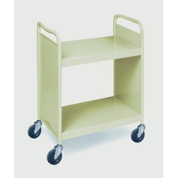 Biofit Steel book truck / 2 shelves