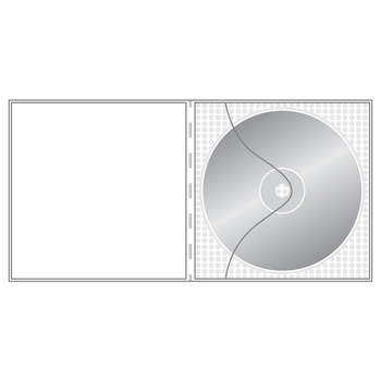 Non-adhesive clear CD pockets
