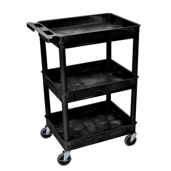 High capacity plastic cart