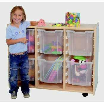 Mobile storage unit with interchangeable bins