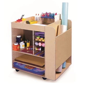 Mobile art supply cart from Whitney Brothers