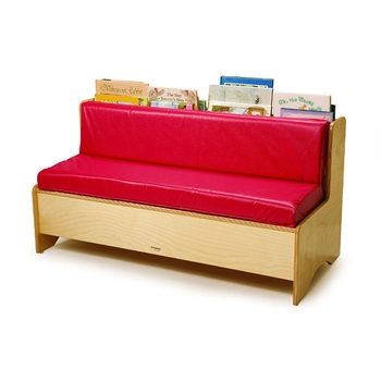 Reading couch with storage