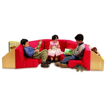 Comfy reading set with storage