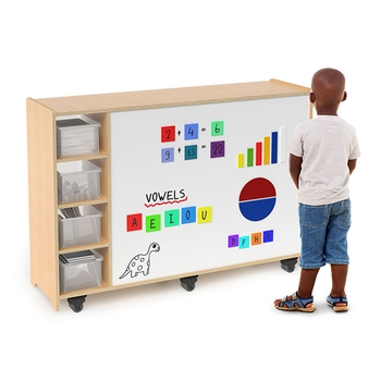 Magnetic write and wipe mobile Cabinet from Whitney Brothers