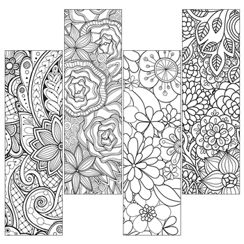 Color Craze bookmarks - Floral