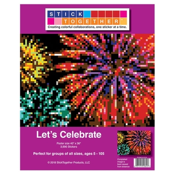 StickTogether™ Mosaic sticker poster - Let's celebrate