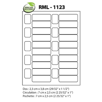 Laser label RML-1123, Bar codes and classification marks
