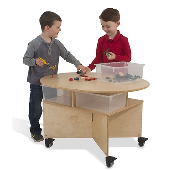 Mobile collaboration table from Whitney Brothers