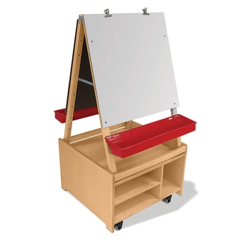 Adjustable easel and base cabinet from Whitney Brothers