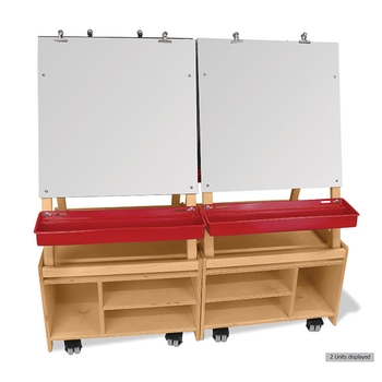 Set of 2 adjustables easels and base cabinets from Whitney Brothers