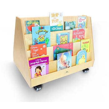 Two sided mobile book stand from Whitney Brothers