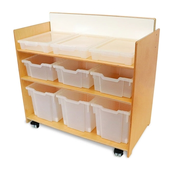 Preschool storage cart from Whitney Brothers
