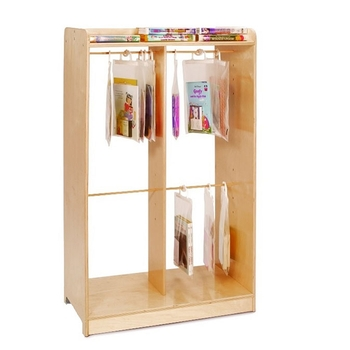 Hanging bags storage cabinet from Whitney Brothers