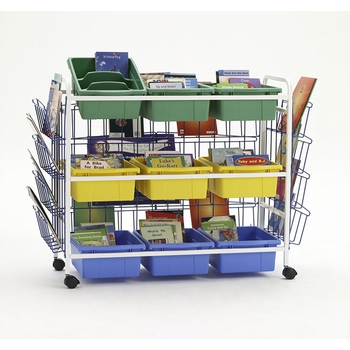 Deluxe 9 tubs storage cart from Copernicus®