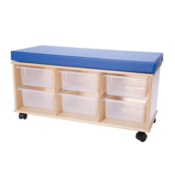 Mobile storage bench from Demco®