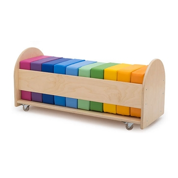 Raibow square cushion set with rolling rack by Gressco®