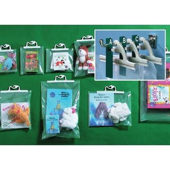 Hang-up bags and displays